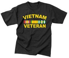 Vietnam Veteran T-Shirt Black Military & Camo Shirt. Only $9.31
