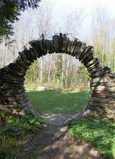 id like to do an entrance to our backyard in a similar manner you wont find any locks on these beautifully mystical moon doors otherwise known as moon