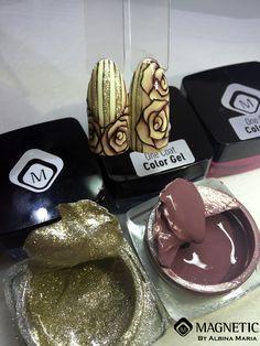 Maga Nails, Albina Maria, Magnetic , Nail Art, Gel, One Coat Color Gel.