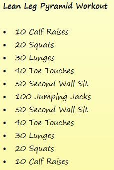 pyramid workouts for beginners