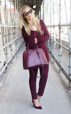 Monochromatic Burgundy   Living In Color Print