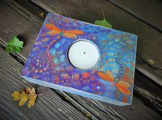 Wooden candle holderwooden tea light by heARTofNatureStudio