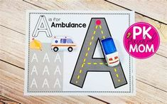 Pin By Maria Garcia On Vocales   Alphabet Activities Alphabet Activities, Hands On Activities, Preschool Activities, Alphabet Sounds, Alphabet Phonics, Handwriting Practice Paper, Phonics Cards, Q Tip Painting, Autism Education