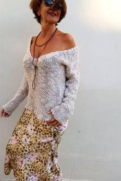 Jersey de punto suéter de lana jersey de lana suéter por EstherTg