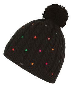 Look at this Black Hot Dot Beanie on #zulily today!