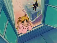 Usagi Tsukino and Luna.