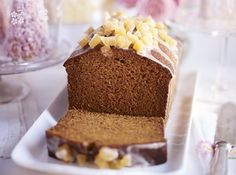 Date ginger malt loaf. A dark, sticky and lightly spiced cake that merges Jamaican ginger cake with sticky toffee pudding and malt loaf Loaf Recipes, Bbc Good Food Recipes, Cake Recipes, Baking Recipes, Dessert Recipes, Easy Loaf Cake Recipe, Jamaican Ginger Cake, Malt Loaf, Ginger Loaf