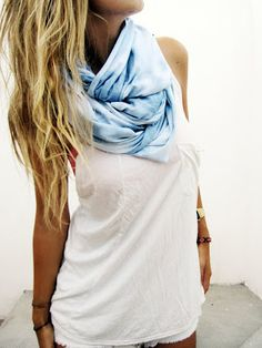 Not one for scarves in the summer, but I like