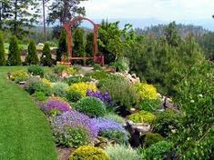 hilly landscaping design.