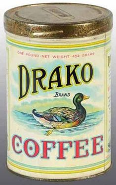 Collecting vintage and antique coffee tins can be a fun and rewarding hobby. Coffee tins are the second most collected advertising tins just after tobacco tins. Vintage Tins, Vintage Labels, Vintage Posters, Vintage Kitchen, Vintage Style, Coffee Tin, Coffee Cups, Coffee Creamer, Coffee Shop