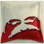 Hand-painted Crab Monster Red Indoor & Outdoor Pillow