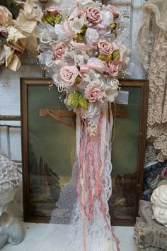 Huge ornate recycled vintage wedding bouquet by AnitaSperoDesign, $170.00