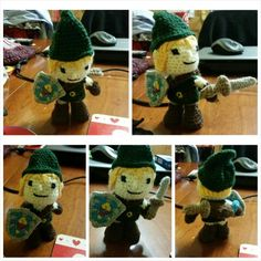 Free Standing Link Crochet Doll, with pivot head