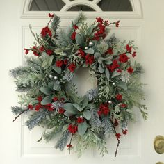 Christmas Wreath-Winter Wreath-Holiday by ReginasGarden on Etsy