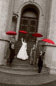 Red umbrellas :)