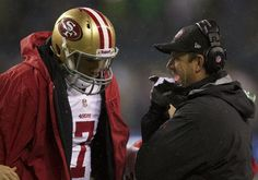 San Francisco 49ers Team Photos - ESPN...John Harbough and Colin Kaepernick