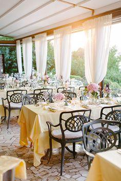 Romantic Portovenere Italy Destination Wedding, Reception Decor   Brides.com