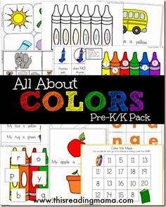 FREE Learning About  Colors  Preschool Worksheets. So many fun playful ideas including a printable easy reader for Preschool and Kindergarten.