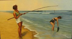 women fishing - old school. This reminds me of my grandmama totally!!
