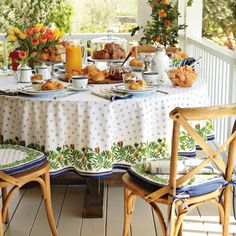 Provence Tablecloth | Williams-Sonoma  I love this one the most.