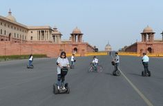 Enjoy the #adventurous #segway ride at #Rajpath Road everyday. Book online tickets now with bookmyseats.in.