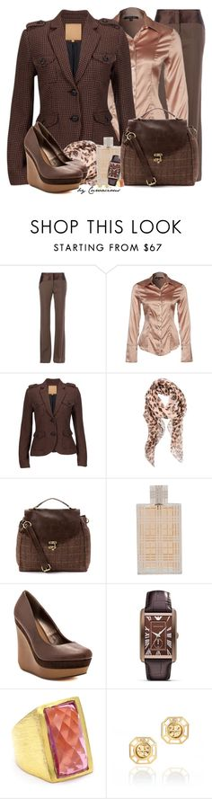 """Blush & Brown"" by curvacious ❤ liked on Polyvore featuring Giles, Patrizia Pepe, Silvian Heach, Alexander McQueen, Red Or Dead, Burberry, Michael Antonio, Emporio Armani, Wendy Mink and Tory Burch"