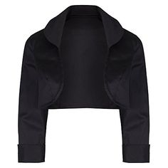 Pretty Kitty Fashion Black Cotton 3/4 Sleeve Bolero  - See more at: http://45.gs/gdiy