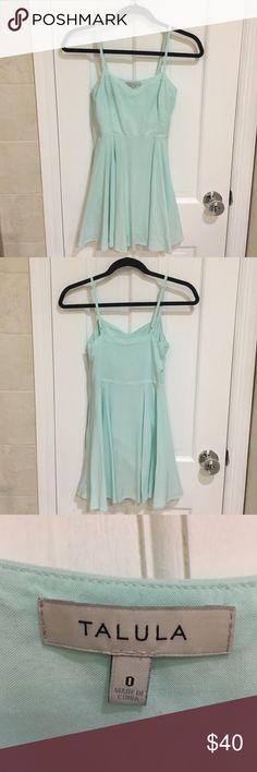 Aritzia Talula Dress Light blue Talula dress from Aritzia. Sweetheart neck and adjustable spaghetti straps. Worn only once for graduation photos! Aritzia Dresses Mini