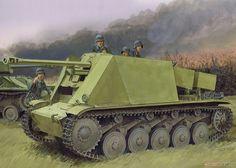 WWII German 5cm PaK 38 auf Pz.Kpfw.II (Sf) (Plastic model) Other picture1