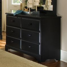 Midnight 6 Drawer Dresser - http://delanico.com/dressers/midnight-6-drawer-dresser-508891531/