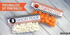 Fun DIY Printable PERSONALIZED Halloween Treat Labels!