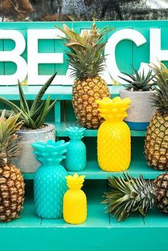 Shop pineapple home decor ideas, bar cart necessities, and accessories on domino.com. Discover pineapple floaties, shot glasses, candles, and more.