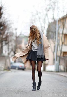 Fall, Grey skirt