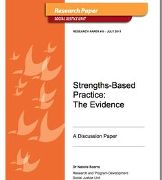 Strengths Based Practice: The Evidence