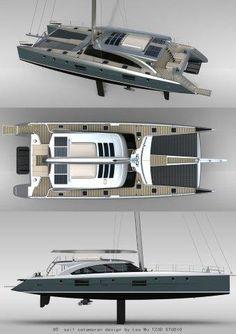 TZ3D 85' Sail Catamaran