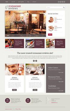 #RestaurantReviews #Responsive #Wordpress template - $75