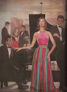 Francesco Scavullo, Harper's Bazaar November 1957 | At Home Together Which Way To The Party?