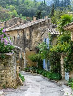 A picturesque Provence village dating back to the Romans and including a fortified upper section and a lower section outside the original walls - both still occupied. Beautiful Places In The World, Places Around The World, Around The Worlds, Provence France, City Landscape, South Of France, France Travel, Belle Photo, Beautiful Landscapes