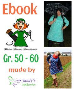 Das zweite Gemeinschaftsprojekt Fräulein Kleinseins Kurvenkleidchen wurde von Fräulein Kleinsein entworfen und Sandy´s Nähkästchen erstellt. Mit diesem Ebook erhälst du einen Kleiderschnitt, mit...