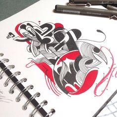 #Brussels #illustration #blackandwhite #red #sketchbook #pleasure #creative #drawing #Belgium #__vebe__