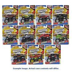 Hot Wheels Monster Jam 1:64 Scale Wave 6 Rev. 1 Case Mattel Hot Wheels Vehicles: Die-Cast