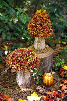 Compre online agora - # now # online # also # Shop - Deko - Arranjos Diy Fall Wreath, Fall Diy, Deco Floral, Arte Floral, Autumn Crafts, Nature Crafts, Diy Wedding Decorations, Christmas Decorations, Seasonal Decor