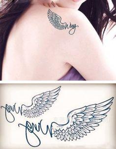 Фото - Татуировка крылья. Код товара: 211628