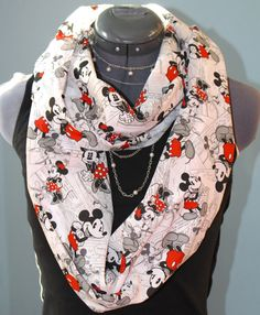 Disney Mickey & Minnie Infinity Scarf by StyleGypsies on Etsy, $24.00