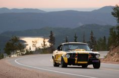 Stunning shot of a Ford Mustang makes its way up Pikes Peak in 2012