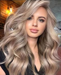 Cheveux Beiges, Blonde Hair Looks, Makeup With Blonde Hair, Best Blonde Hair, Ginger Blonde Hair, Ashy Blonde Hair, Blonde Hair Care, Cool Blonde, Hair Length Chart