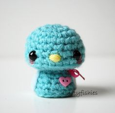 SALE - Baby Blue Bird - Kawaii Mini Amigurumi