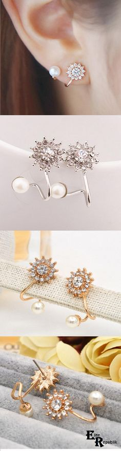 >>>Pandora Jewelry OFF! >>>Visit>> Snowflake Earrings - Tap the link to shop on our official online store! You can also join our affiliate and/or rewards programs for FREE! Bijoux Design, Jewelry Design, Fashion Shoes, Fashion Jewelry, Fashion 2017, Cheap Fashion, Fashion Ideas, Skull Fashion, Trendy Fashion