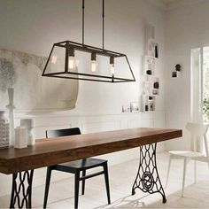 Credit @insmatiluminacion Shops, Bad, Dining Table, Iron, House Design, Ceiling Lights, Interior Design, Lighting, Luxury