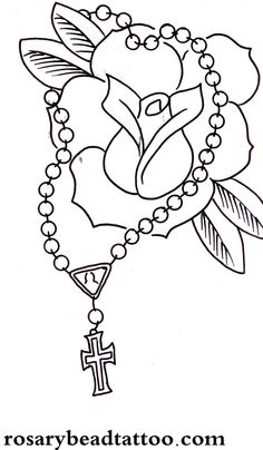 Rose Drawings | rose tattoo,red rose cross tattoo,classic flower tattoo design,free ...
